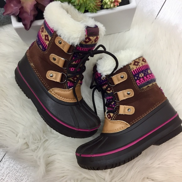 girls winter boots size 12